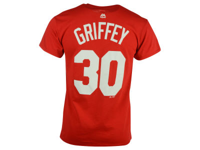 Cincinnati Reds Ken Griffey Sr. Majestic MLB Men's Cooperstown Player T-Shirt