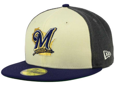 Milwaukee Brewers New Era MLB Classic Coop 59FIFTY Cap