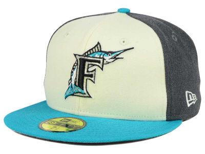 Florida Marlins New Era MLB Classic Coop 59FIFTY Cap