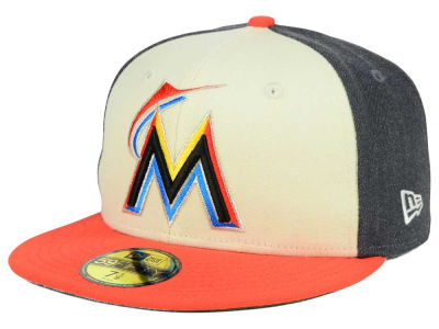 Miami Marlins New Era MLB Classic Coop 59FIFTY Cap