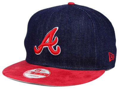 Atlanta Braves New Era MLB 2 Tone Denim Suede 9FIFTY Snapback Cap