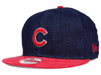 Chicago Cubs New Era MLB 2 Tone Denim Suede 9FIFTY Snapback Cap