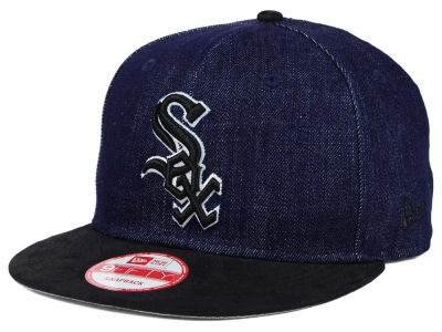 Chicago White Sox New Era MLB 2 Tone Denim Suede 9FIFTY Snapback Cap