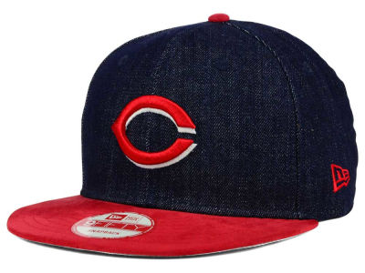Cincinnati Reds New Era MLB 2 Tone Denim Suede 9FIFTY Snapback Cap