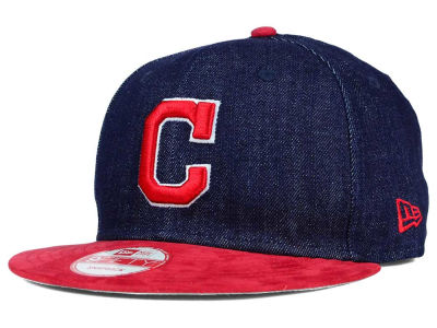 Cleveland Indians New Era MLB 2 Tone Denim Suede 9FIFTY Snapback Cap