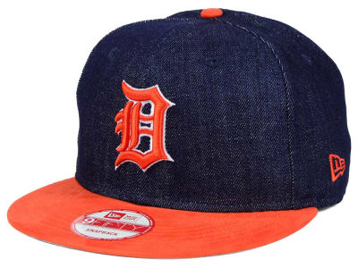 Detroit Tigers New Era MLB 2 Tone Denim Suede 9FIFTY Snapback Cap