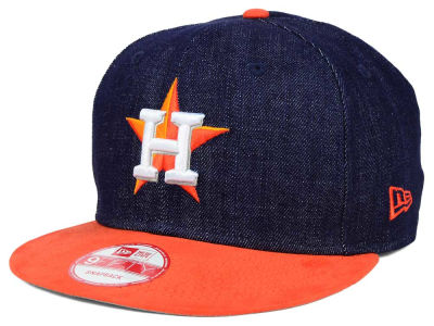 Houston Astros New Era MLB 2 Tone Denim Suede 9FIFTY Snapback Cap