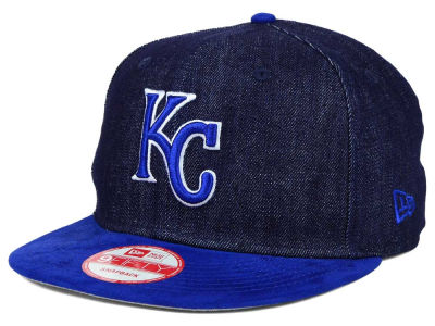 Kansas City Royals New Era MLB 2 Tone Denim Suede 9FIFTY Snapback Cap