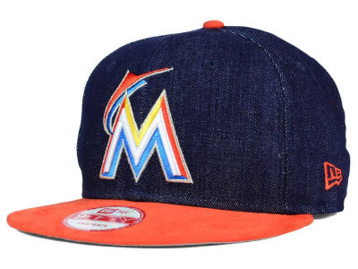 Miami Marlins New Era MLB 2 Tone Denim Suede 9FIFTY Snapback Cap