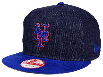 New York Mets New Era MLB 2 Tone Denim Suede 9FIFTY Snapback Cap