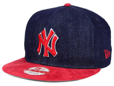 New York Yankees New Era MLB 2 Tone Denim Suede 9FIFTY Snapback Cap