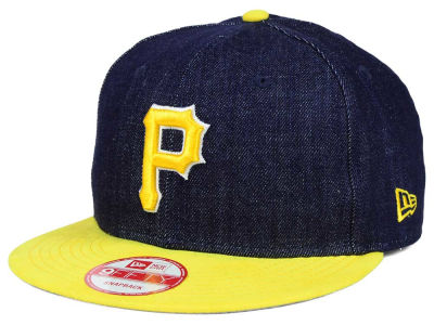 Pittsburgh Pirates New Era MLB 2 Tone Denim Suede 9FIFTY Snapback Cap
