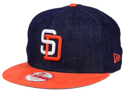 San Diego Padres New Era MLB 2 Tone Denim Suede 9FIFTY Snapback Cap