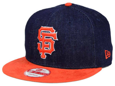 San Francisco Giants New Era MLB 2 Tone Denim Suede 9FIFTY Snapback Cap