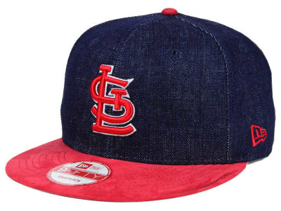 St. Louis Cardinals New Era MLB 2 Tone Denim Suede 9FIFTY Snapback Cap
