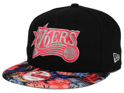 Philadelphia 76ers New Era NBA HWC Fall Floral 9FIFTY Snapback Cap