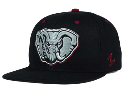Alabama Crimson Tide Zephyr NCAA Triple Black Snapback Hat