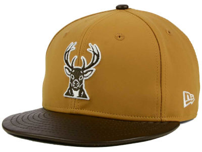 Milwaukee Bucks New Era NBA HWC Suedebuck 9FIFTY Snapback Cap