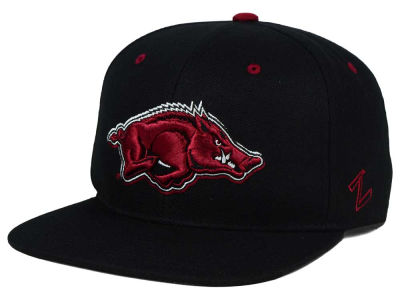 Arkansas Razorbacks Zephyr NCAA Triple Black Snapback Hat