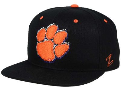 Clemson Tigers Zephyr NCAA Triple Black Snapback Hat