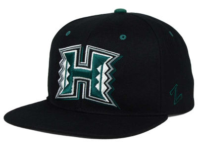 Hawaii Warriors Zephyr NCAA Triple Black Snapback Hat