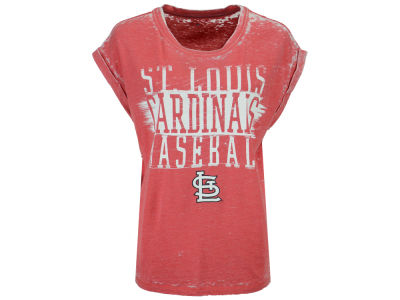 St. Louis Cardinals 5th & Ocean MLB Women's Burnout Wash T-Shirt
