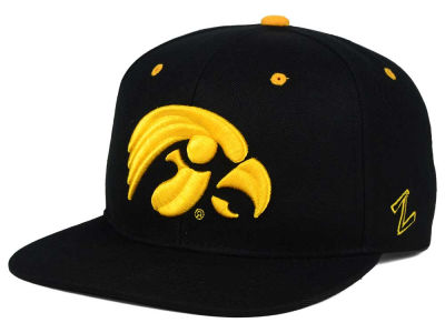 Iowa Hawkeyes Zephyr NCAA Triple Black Snapback Hat