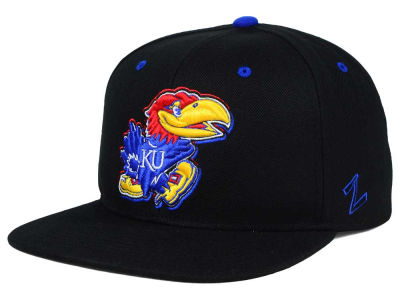 Kansas Jayhawks Zephyr NCAA Triple Black Snapback Hat