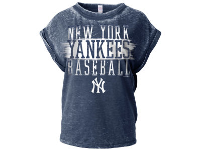 New York Yankees 5th & Ocean MLB Women's Burnout Wash T-Shirt