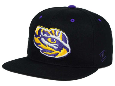 LSU Tigers Zephyr NCAA Triple Black Snapback Hat