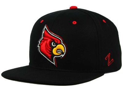 Louisville Cardinals Zephyr NCAA Triple Black Snapback Hat
