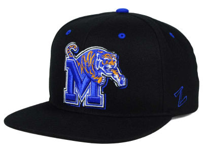 Memphis Tigers Zephyr NCAA Triple Black Snapback Hat