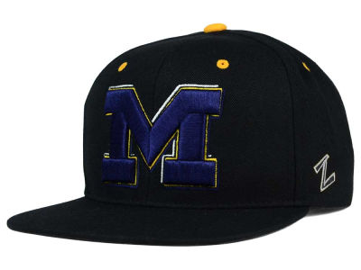 Michigan Wolverines Zephyr NCAA Triple Black Snapback Hat