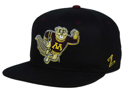 Minnesota Golden Gophers Zephyr NCAA Triple Black Snapback Hat