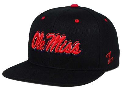 Ole Miss Rebels Zephyr NCAA Triple Black Snapback Hat
