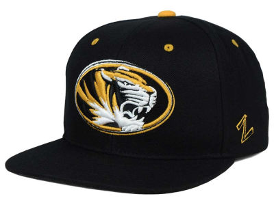 Missouri Tigers Zephyr NCAA Triple Black Snapback Hat
