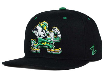 Notre Dame Fighting Irish Zephyr NCAA Triple Black Snapback Hat