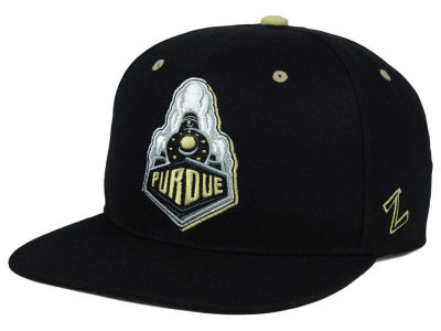 Purdue Boilermakers Zephyr NCAA Triple Black Snapback Hat