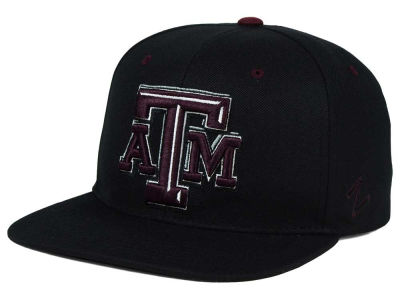 Texas A&M Aggies Zephyr NCAA Triple Black Snapback Hat