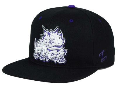 Texas Christian Horned Frogs Zephyr NCAA Triple Black Snapback Hat