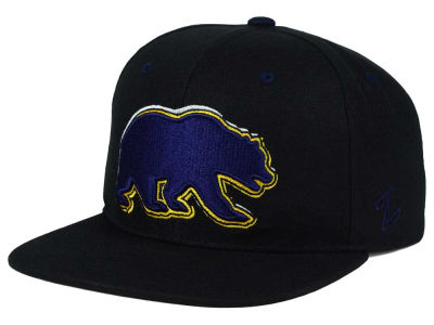 California Golden Bears Zephyr NCAA Triple Black Snapback Hat