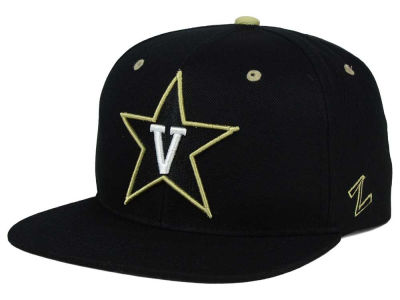 Vanderbilt Commodores Zephyr NCAA Triple Black Snapback Hat