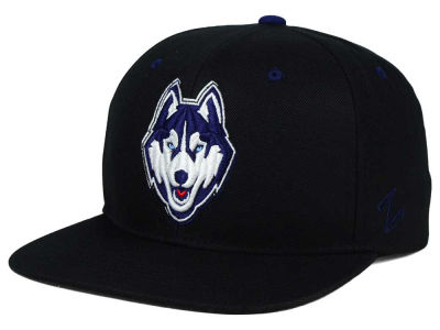 Connecticut Huskies Zephyr NCAA Triple Black Snapback Hat
