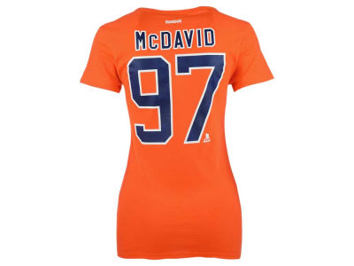 Edmonton Oilers Connor McDavid Reebok NHL Women's Player V-Neck T-Shirt