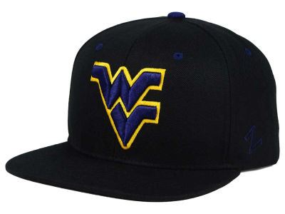 West Virginia Mountaineers Zephyr NCAA Triple Black Snapback Hat