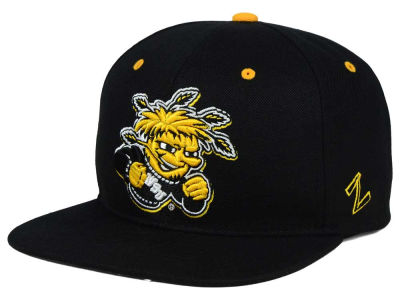 Wichita State Shockers Zephyr NCAA Triple Black Snapback Hat