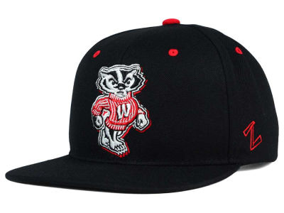 Wisconsin Badgers Zephyr NCAA Triple Black Snapback Hat