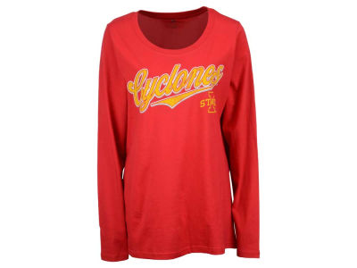 Iowa State Cyclones NCAA Women's Curves Long Sleeve Plus Size T-Shirt