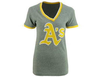 Oakland Athletics 5th & Ocean MLB Women's LE Triple Flock T-Shirt