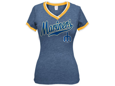 Seattle Mariners 5th & Ocean MLB Women's LE Triple Flock T-Shirt